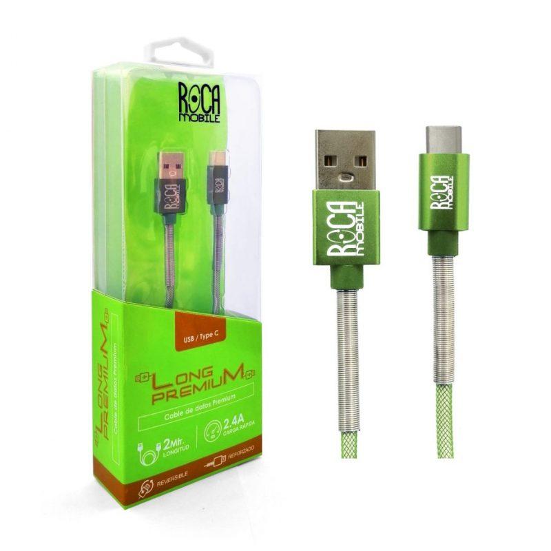 Cable de Datos ROCA Tipo C Premium Forrado - 2 Metros 2