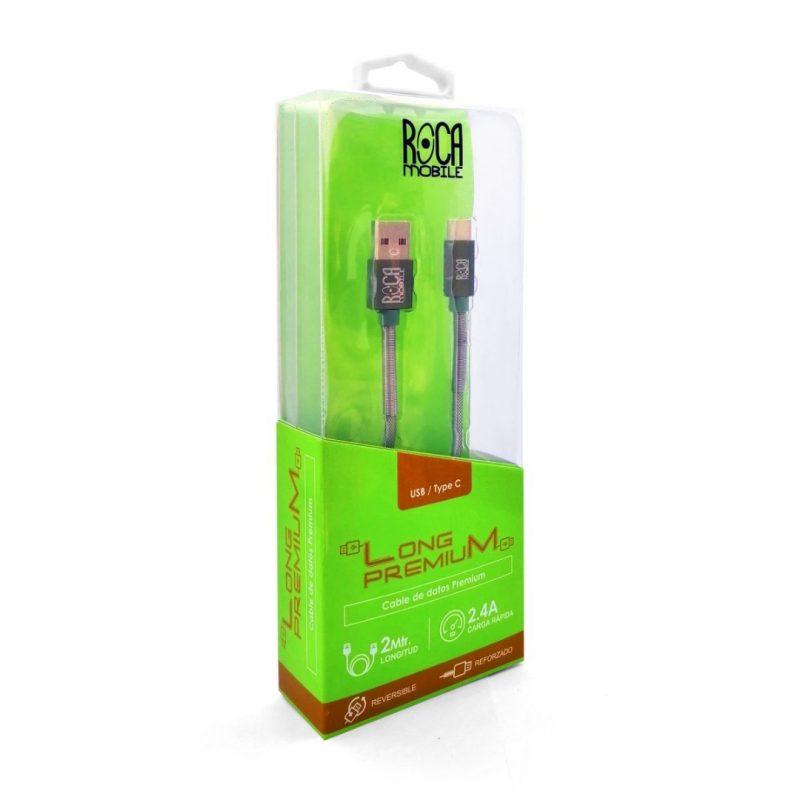 Cable de Datos ROCA Tipo C Premium Forrado - 2 Metros 3