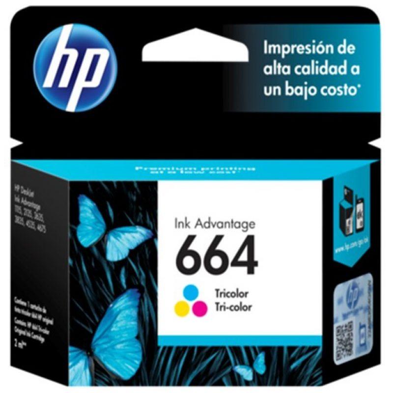Cartucho Original HP 664 Tricolor Para Deskjet 2135 2675 3635 4535 3775 3785 1