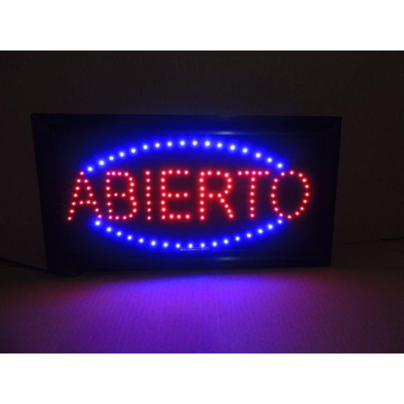 Cartel Luminoso de 'ABIERTO' para Comercios 2