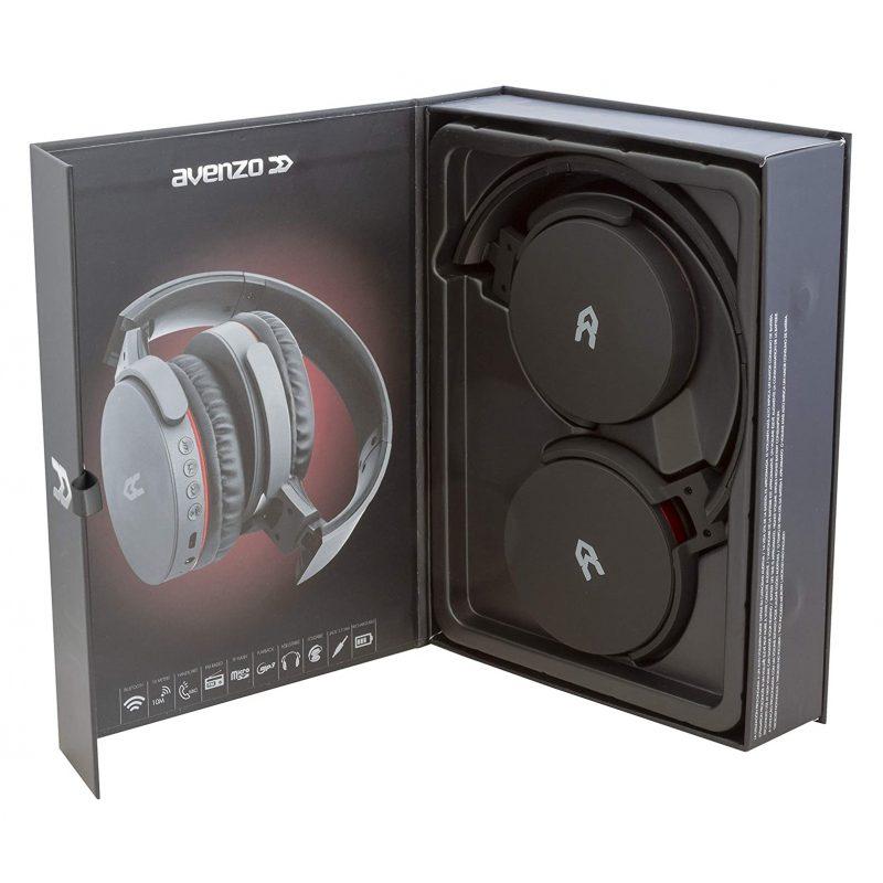 Auricular Bluetooth y Cableado Avenzo AV-HP2002B con Radio FM/MP3/MicroSD y Manos Libres - Negro 4