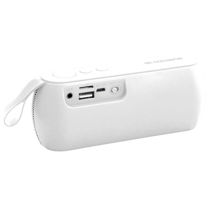 Parlante Portatil Avenzo AV-SP3101W 3W Bluetooth Manos Libres Radio FM microSD USB MP3 - Blanco 2