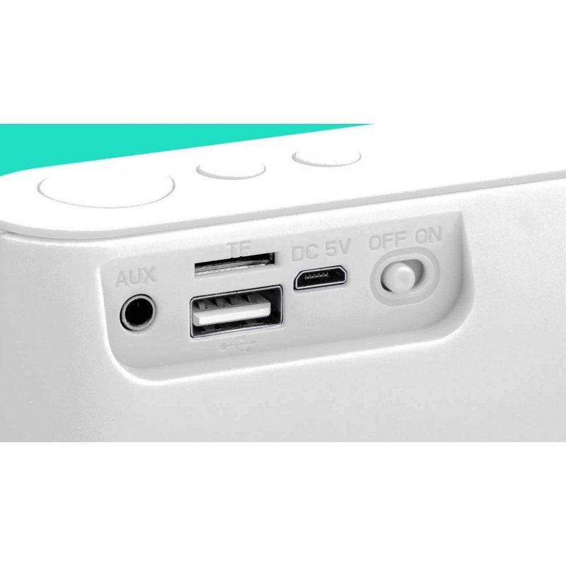 Parlante Portatil Avenzo AV-SP3101W 3W Bluetooth Manos Libres Radio FM microSD USB MP3 - Blanco 4