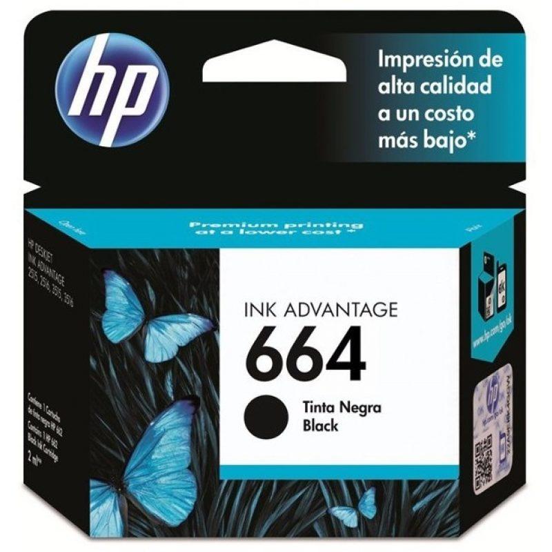 Cartucho Original HP 664 Negro Para Deskjet 2135 2675 3635 4535 3775 3785 1