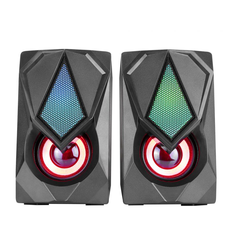 Parlante Gamer Xtrike Me SK-402 USB Negro con Luces RGB Diseño Compacto 2