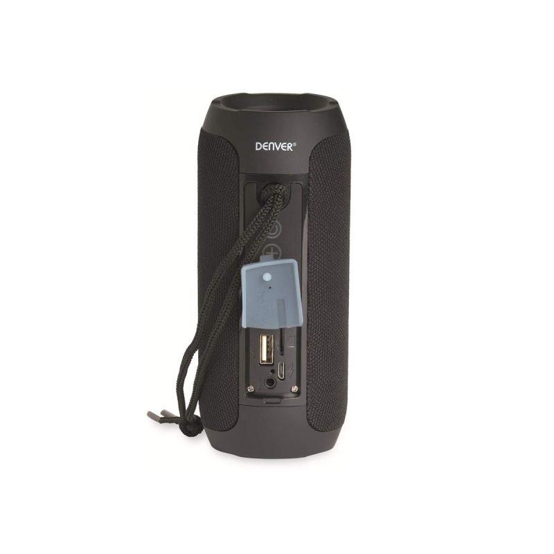 Parlante Portatil Denver BTS-110 Bluetooth Manos Libres Radio FM microSD USB MP3 - Negro 3