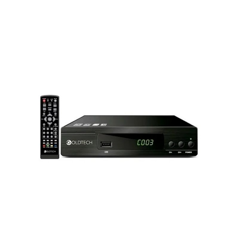 Sintonizador Digital Goldtech ISDB-T para Canales de Aire Full HD en TV's HDMI / RCA 1