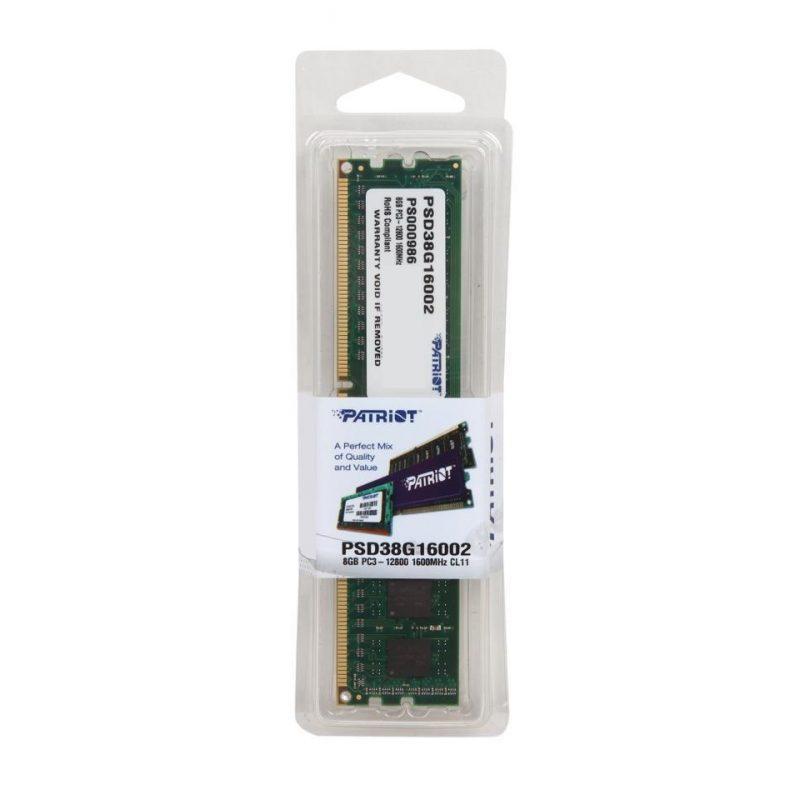 Memoria RAM DDR3 8GB 1600 MHz Patriot PSD38G16002 Nueva 4
