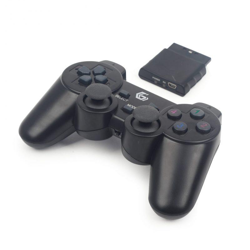 Joystick Inalambrico Compatible para PlayStation 3; 2 y para PC Computadoras Double Shock - Negro 1