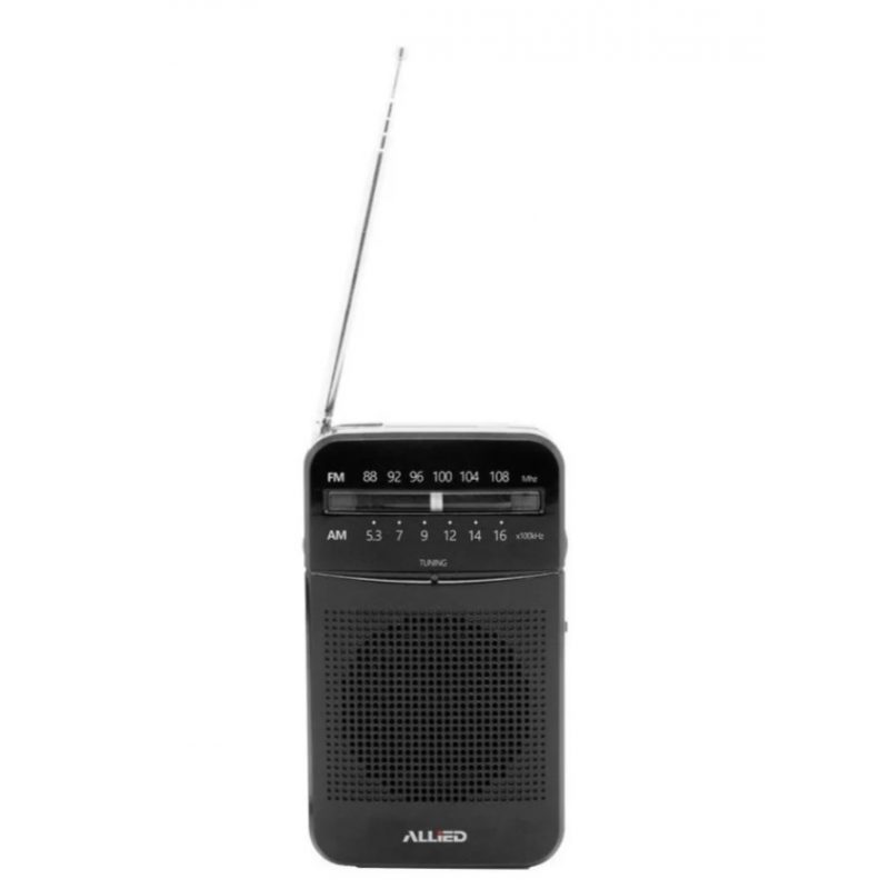 Radio Portátil Portable Clásica Allied AL-RA32 FM/AM de Bolsillo a Pilas 2