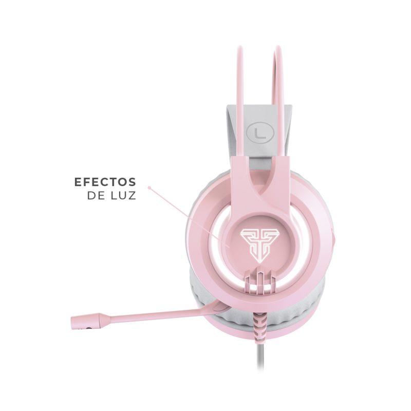 Auricular USB Jack 3.5 mm Fantech HG20 CHIEF II Sakura Edition Rosado 3