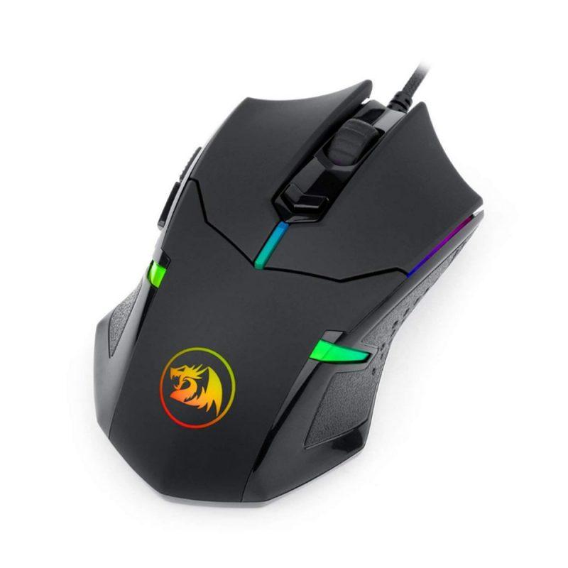 Mouse Gamer Redragon Centrophorus M601 Ergonómico 6 botones Con pesas incluidas 2