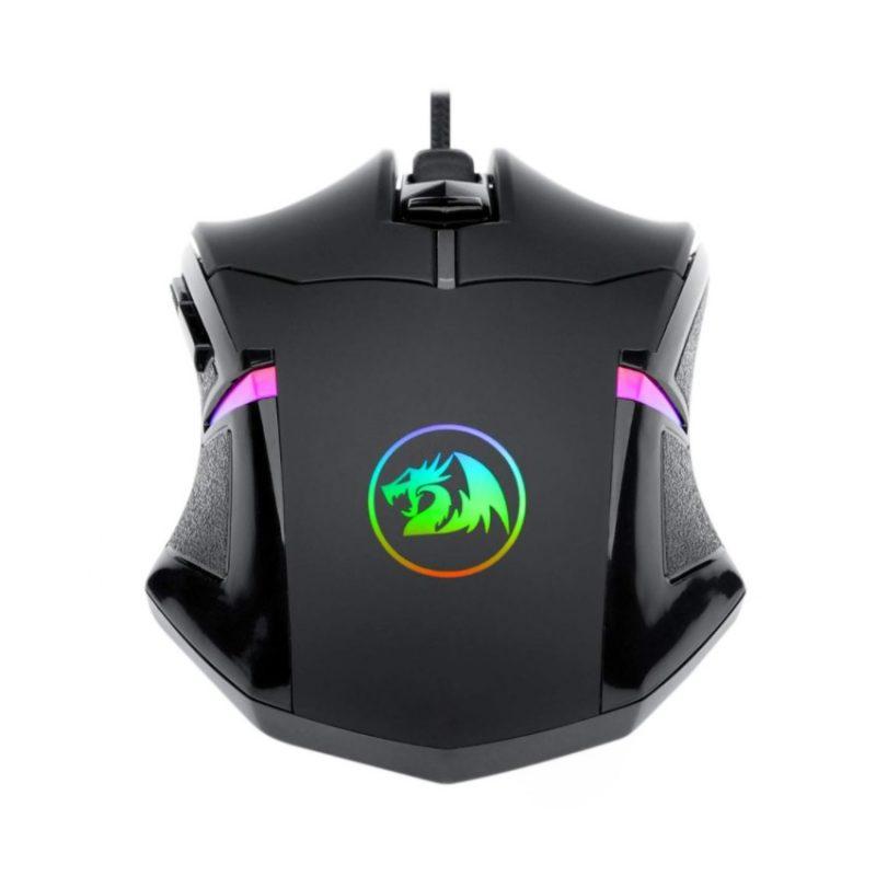 Mouse Gamer Redragon Centrophorus M601 Ergonómico 6 botones Con pesas incluidas 4