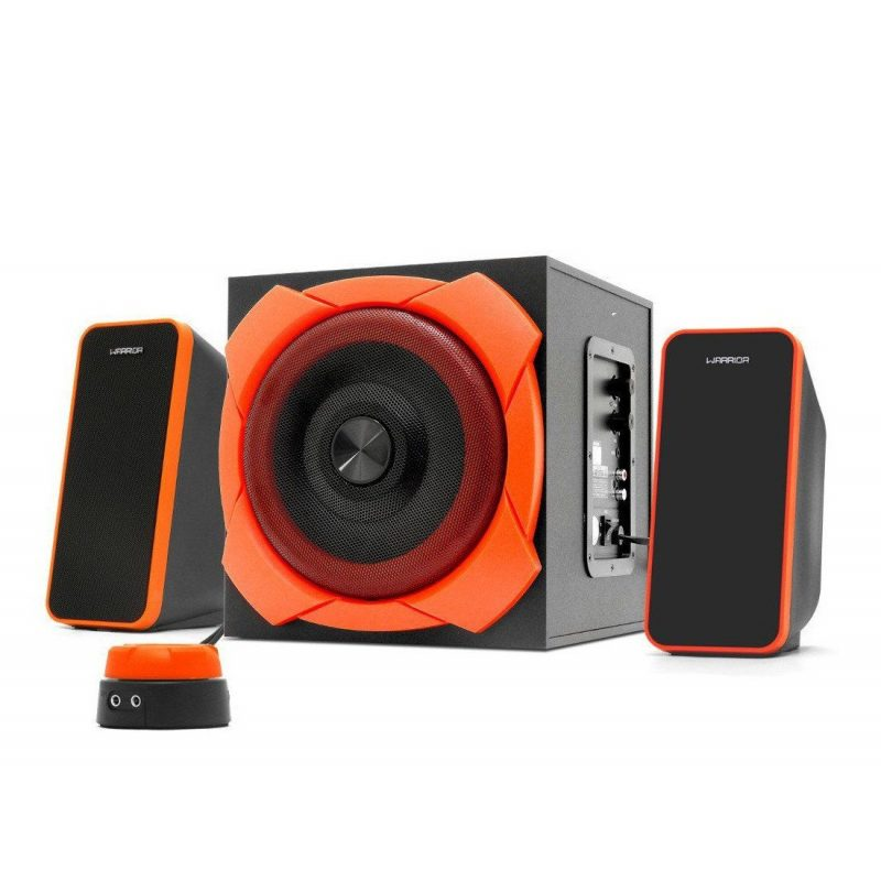 Parlantes Gamer Multilaser Warrior SP266 Home 2.1 50w RMS Reales Woofer 6.5'' 1