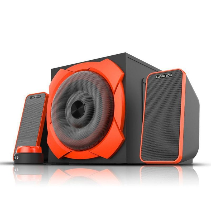 Parlantes Gamer Multilaser Warrior SP266 Home 2.1 50w RMS Reales Woofer 6.5'' 2