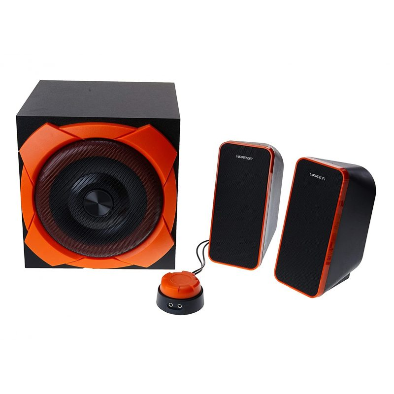 Parlantes Gamer Multilaser Warrior SP266 Home 2.1 50w RMS Reales Woofer 6.5'' 3