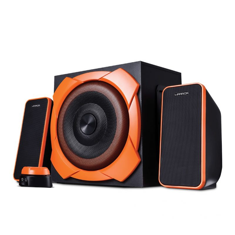 Parlantes Gamer Multilaser Warrior SP266 Home 2.1 50w RMS Reales Woofer 6.5'' 4