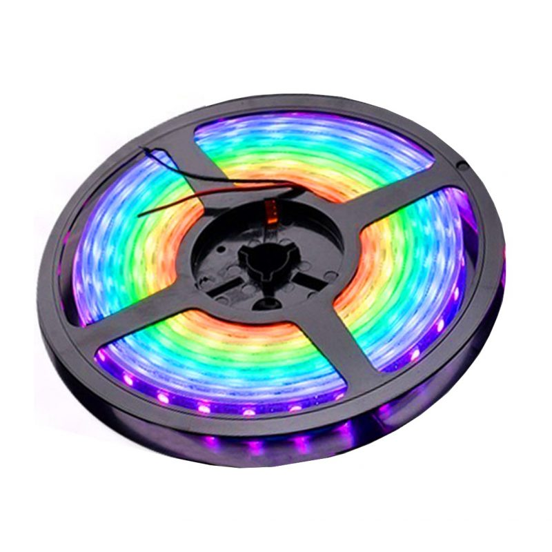 Rollo Cinta de Tiras LED RGB 5 Metros de largo con Transformador y Control remoto 2