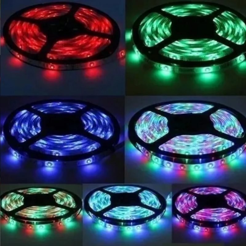 Rollo Cinta de Tiras LED RGB 5 Metros de largo con Transformador y Control remoto 3