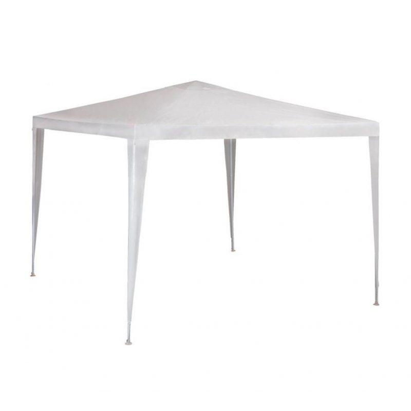 Gazebo Blanco 3x3x2.45m Estructura de Acero Reforzado e Impermeable 1
