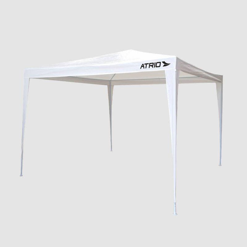 Gazebo Blanco 3x3x2.45m Estructura de Acero Reforzado e Impermeable 2