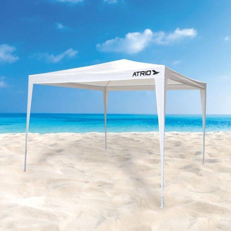 Gazebo Blanco 3x3x2.45m Estructura de Acero Reforzado e Impermeable 3