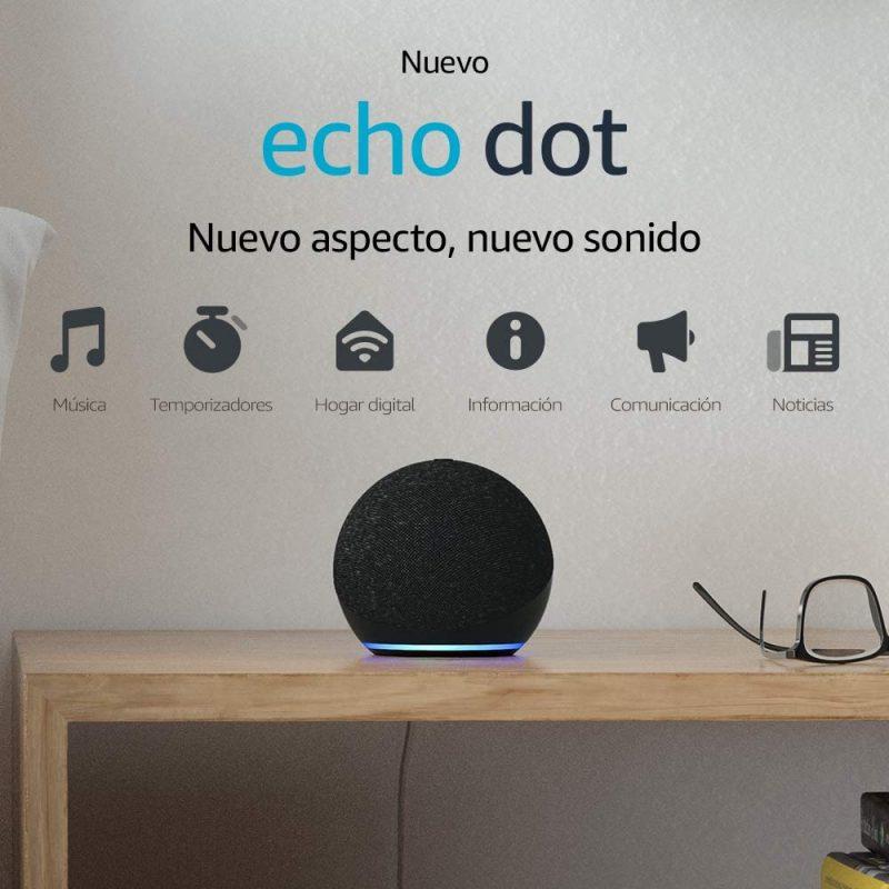 Parlante Inteligente Smart Amazon Echo Dot (4TH Gen) con Alexa - Charcoal 2