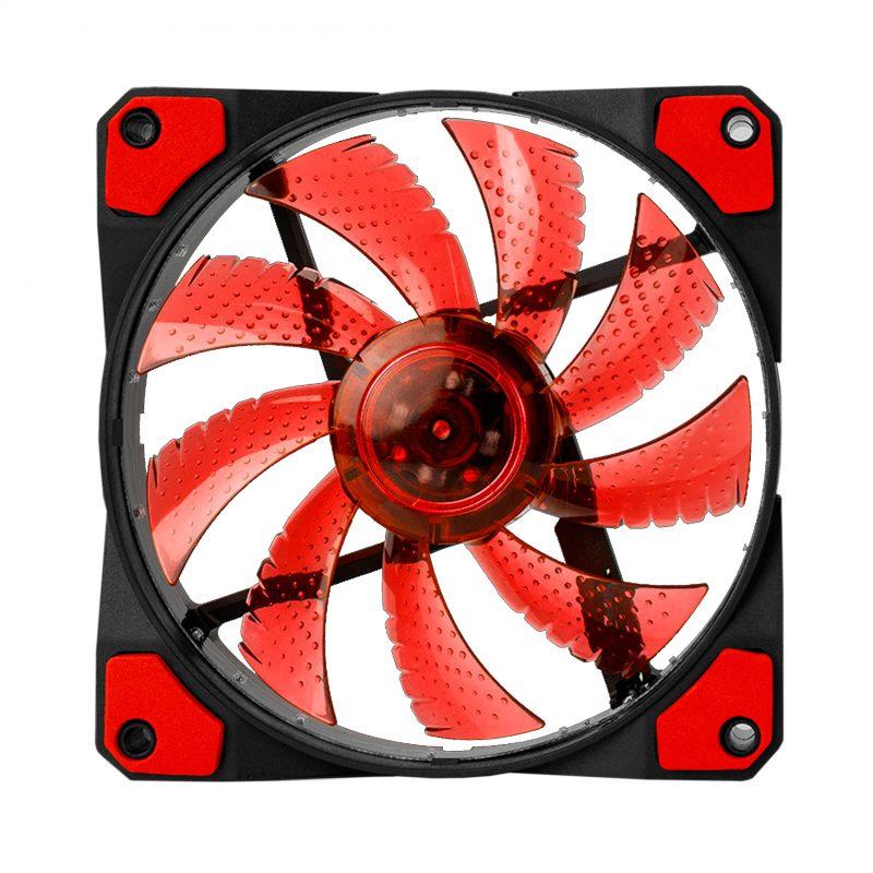 Fan Cooler Ventilador LED Marvo Scorpion FN-10 12cm. - Color Rojo 2
