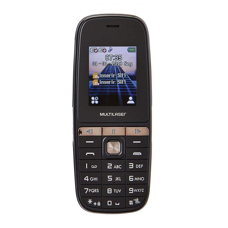 Celular Multilaser UP Play 1.8'' Basico Dual Sim Radio FM Cámara Nuevo y Libre - Negro 1