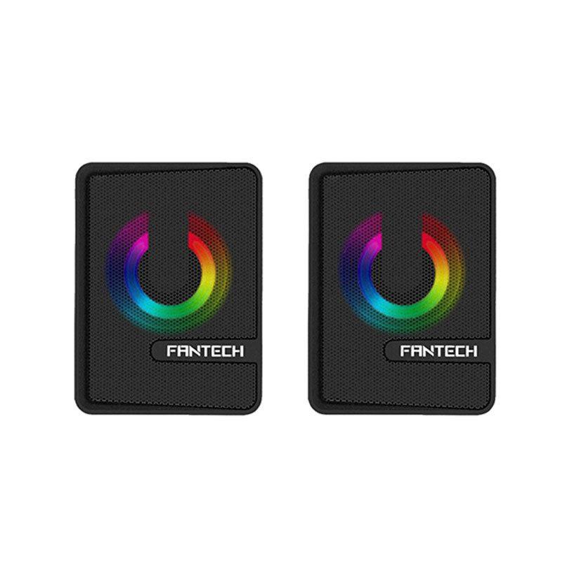 Parlantes USB Gamer Fantech Beat GS203 con Efectos RGB - Negro 2