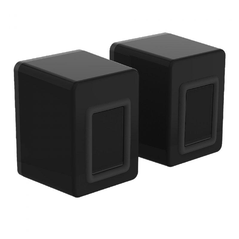 Parlantes USB Gamer Fantech Beat GS203 con Efectos RGB - Negro 4