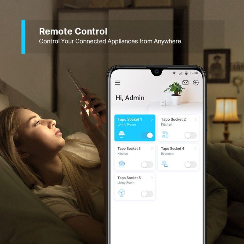 Enchufe Inteligente Smart Wifi TP-Link Tapo P100 Controla los Dispositivos por Voz y App y Ahorra energía - Kit x2 Unidades 3