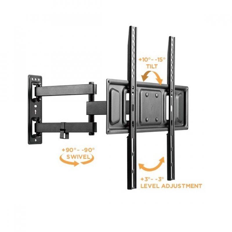 Soporte Brateck LPA63-443 para TV Monitor LED LCD de 32'' a 55'' Universal con Máxima capacidad de Movimiento 3