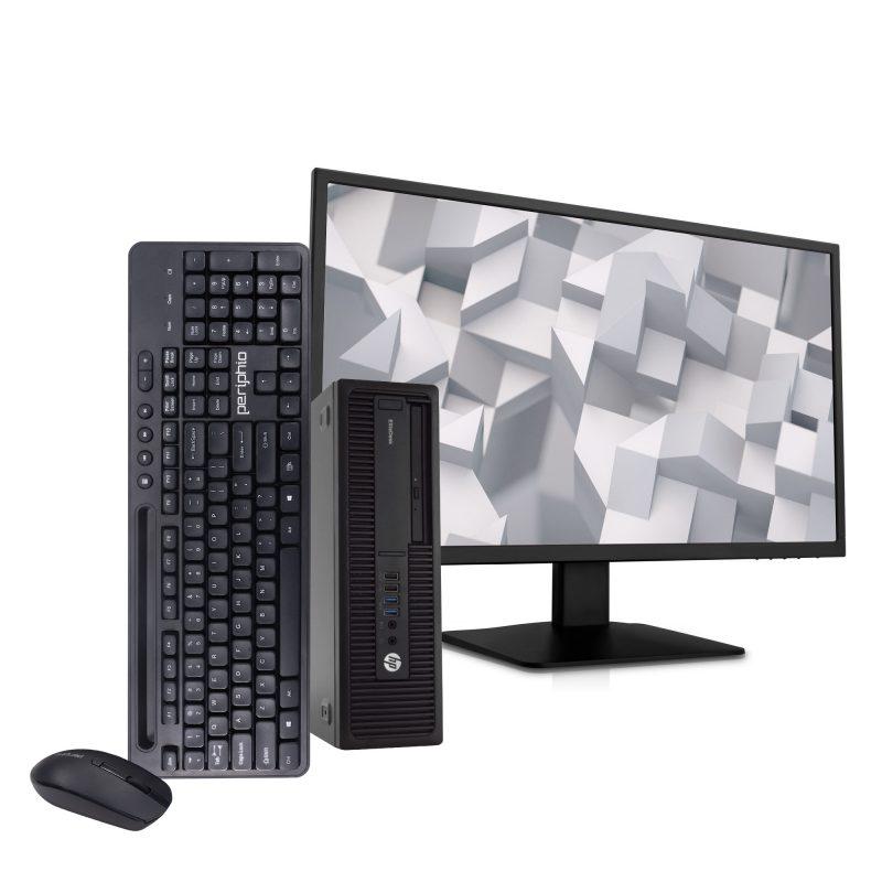 PC Computadora HP Elitedesk 705 A10-9700 Quad Core 8GB 500GB Windows 10 Pro + Monitor LCD 17'' 1