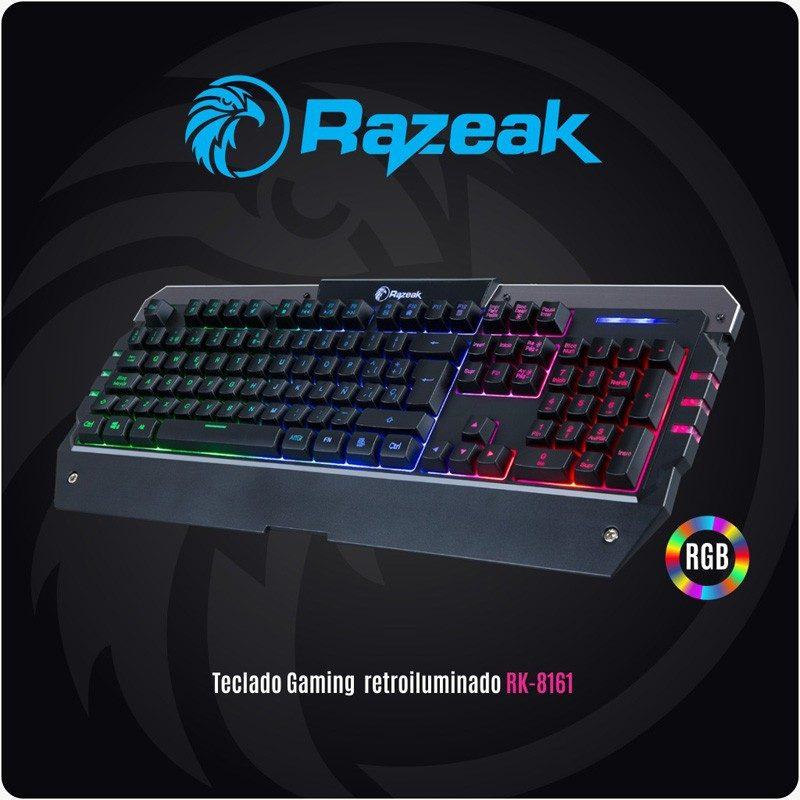 Teclado Gamer Razeak RK-8161 Retroiluminado 7 Colores RGB 3