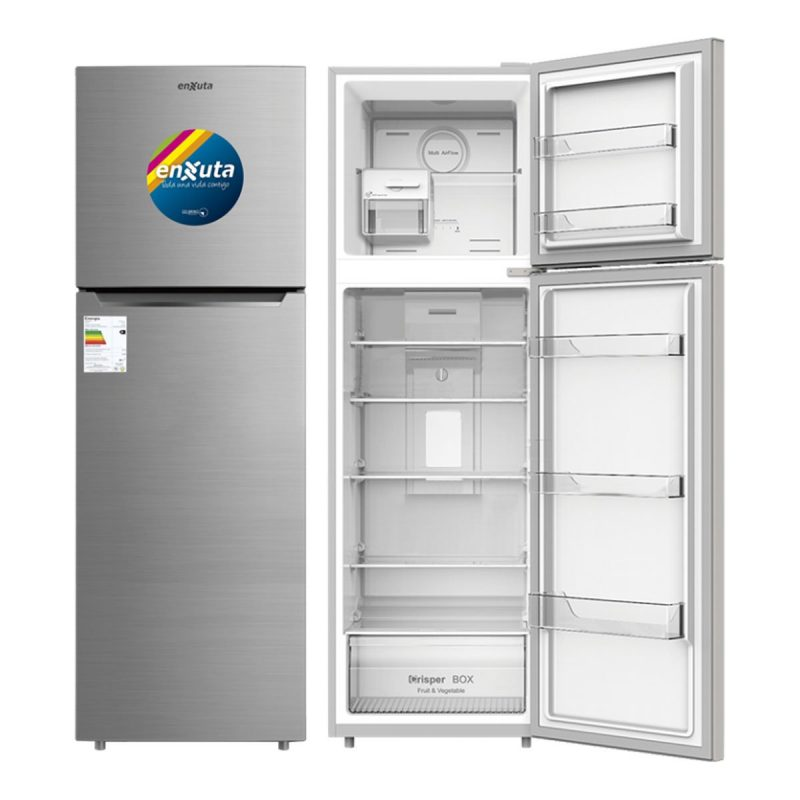 Heladera Refrigerador Enxuta RENX275I Acero Inox No Frost Ice Maker 255 Litros 1