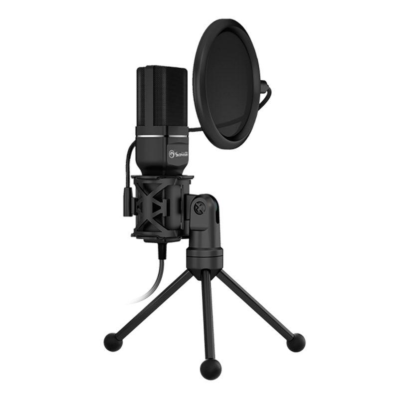 Micrófono de Condensador Profesional Marvo MIC-03 USB Gamer Streaming y Más 1