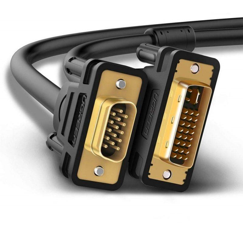 Cable Ugreen CV102 de DVI a VGA 1.5m Full HD 1080p 2