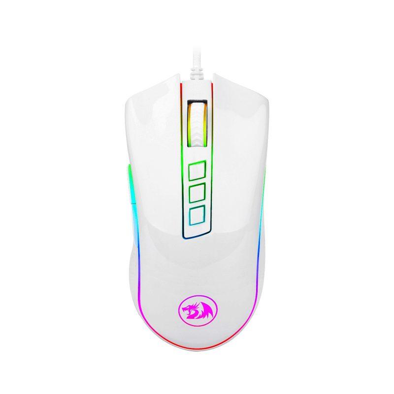 Mouse Gamer Redragon Cobra M711W Chroma RGB Botones Programables - Blanco 1
