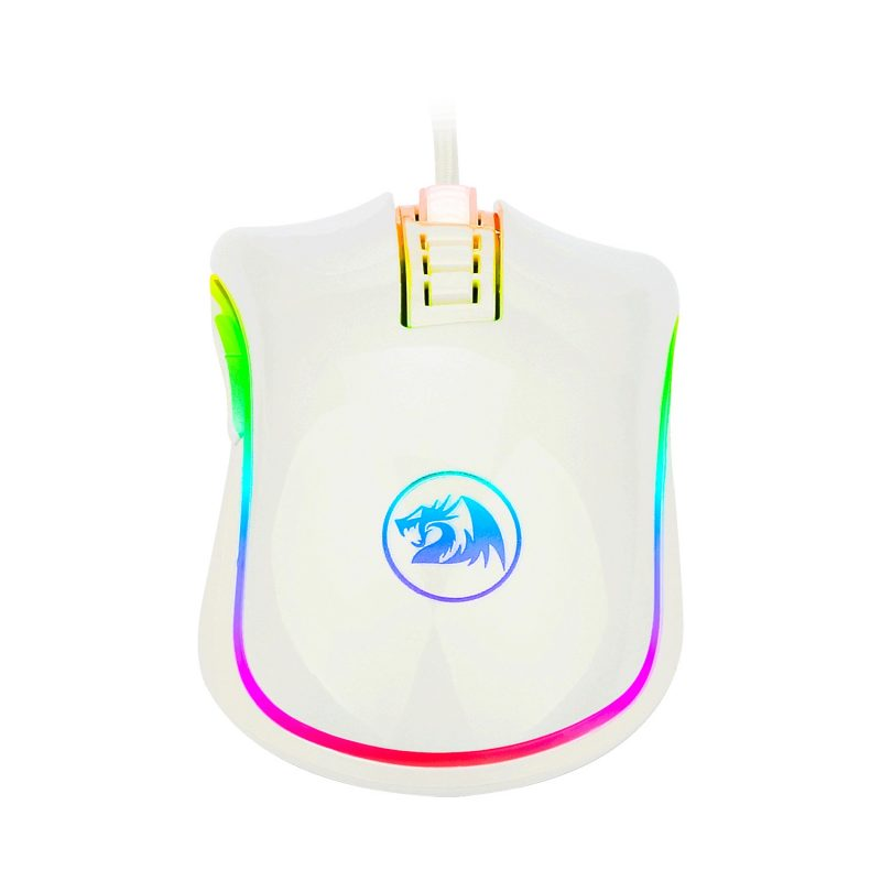 Mouse Gamer Redragon Cobra M711W Chroma RGB Botones Programables - Blanco 4