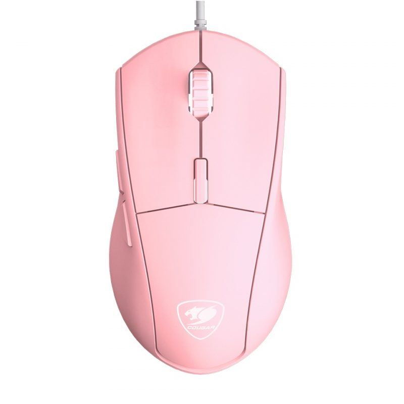 Mouse Gamer Cougar Minos XT RGB 6 Botones Rosado 1