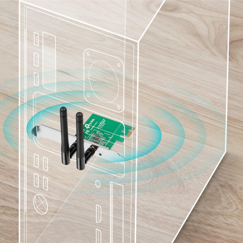 Tarjeta de Red TP-Link TL-WN881ND PCI Express WiFi Inalambrico N 300Mbps 3