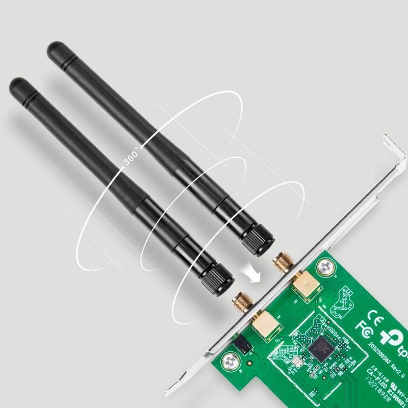Tarjeta de Red TP-Link TL-WN881ND PCI Express WiFi Inalambrico N 300Mbps 4