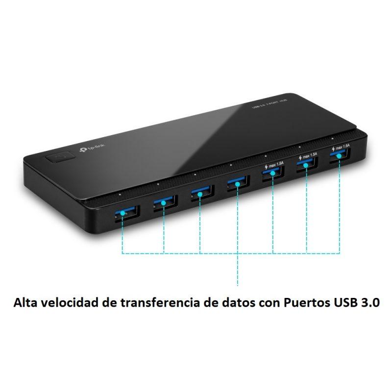 HUB USB TP-Link UH700 De 7 Puertos USB 3.0 2
