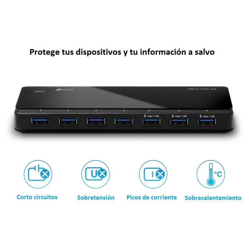 HUB USB TP-Link UH700 De 7 Puertos USB 3.0 4