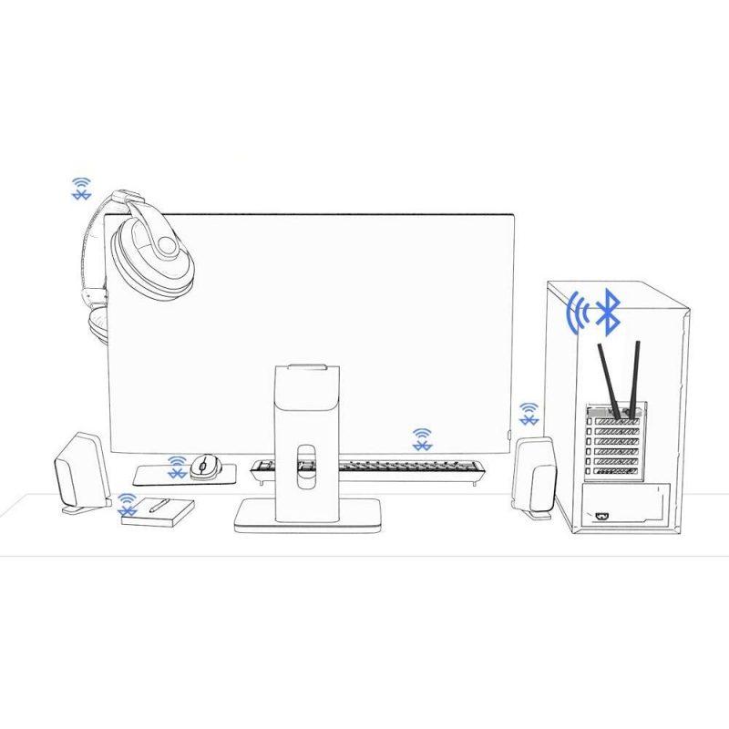 Tarjeta de Red TP-Link Archer T5E AC1200 PCI-e WiFi Dual Band + Bluetooth 4.2 3