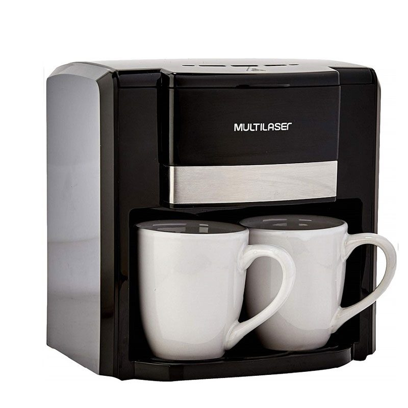 Cafetera Eléctrica Gourmet Multilaser BE010 Filtro permanente semiautomático 2 Tazas - Negra 1