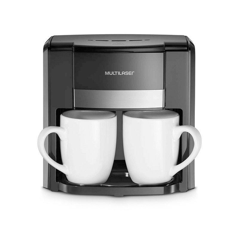 Cafetera Eléctrica Gourmet Multilaser BE010 Filtro permanente semiautomático 2 Tazas - Negra 2