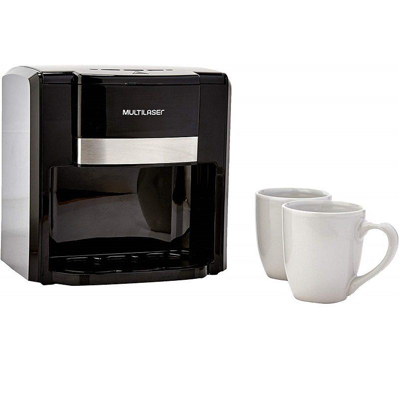Cafetera Eléctrica Gourmet Multilaser BE010 Filtro permanente semiautomático 2 Tazas - Negra 3