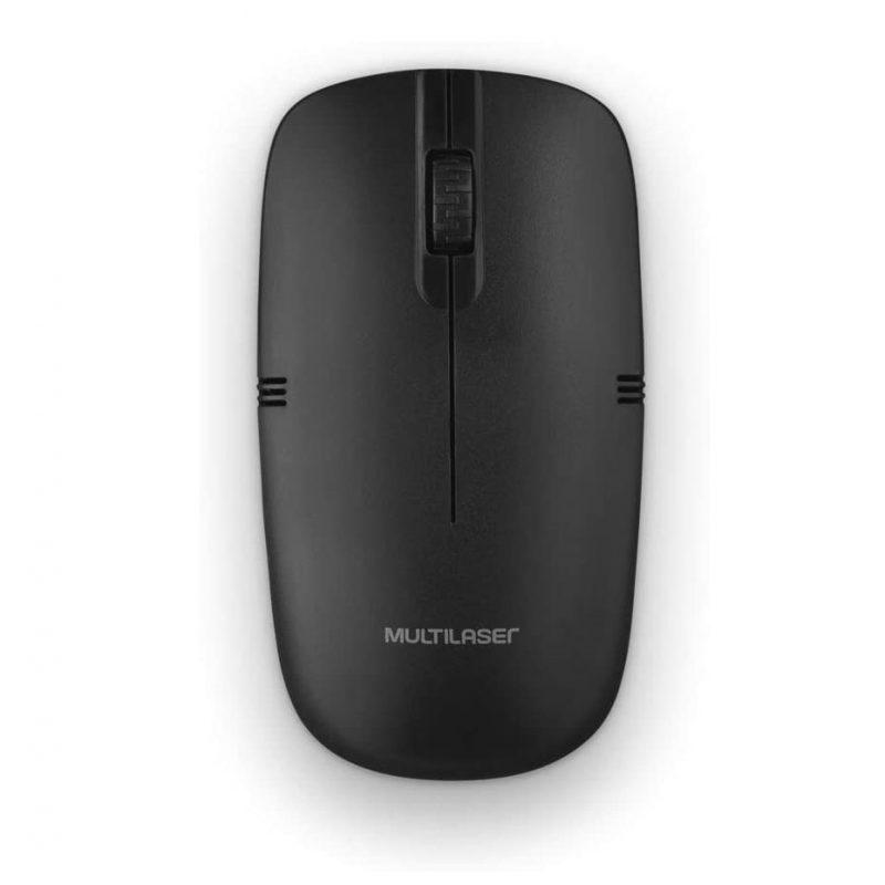 Mouse inalambrico USB Multilaser MO285 1200dpi Ergonomico y de calidad - Negro 1